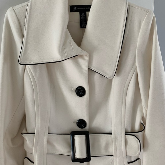 I-N-C Womens Button-Trim Coat